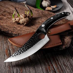 اليدوية المقاوم للصدأ المطبخ boning سكين الصيد سكين اللحوم الساطور في الهواء الطلق الطبخ القاطع جزار سكين Q1208