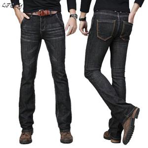 Jeans Men Autumn and Winter Mens Big Flared Jeans Boot Cut Leg Flared Loose Fit High Waist Male Designer Classic Denim