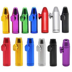 Rocket bala en forma de cigarrillos Tabaco Snorter Sniff dispensador de metal de aluminio nasal soportable para fumar tabaco tabaco de pipa