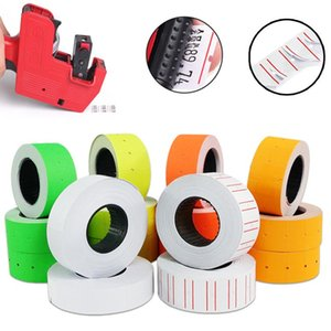 10 Rolls Adhesive Price Labels Paper Tag Sticker Single Row Label Suitable For Grocery 21mmX12mm For MX-5500 Price Gun Labeller
