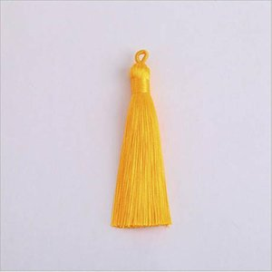 10pcs 8cm Colorful Polyester Silk Tassel With Pull Ring For Hanging Earring Charms Making Diy Jewlery Pendants Accessories H wmtLiE