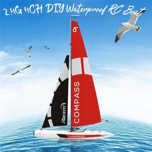 Alta qualità VolantExRC 791-1 65cm 2.4G 4CH RC Boat Barca a vela pre-assemblata senza batteria giocattolo RC Tiny regalo regalo Giocattoli per bambini Y200413