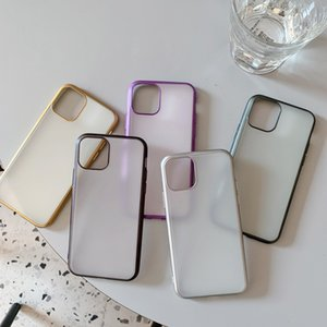 Shockproof Bumper Transparent Silicone Phone Case For 11 Pro Max X XR XS 7 8Plus 12Pro Soft TPU Frame Clear Back Cover