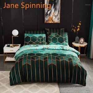 Jane Spinning Géométrique Literie Ensemble de literie Queen Couette Literie Ensemble King Taille Double couverture Tache de linge de lit RR55 # 1