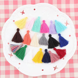 100pcs Mini Cotton Thread Tassel Diy Craft Supplies Bracelet Earrings Accessories Hair Decoration Material Necklace Key Fring H jllGCO