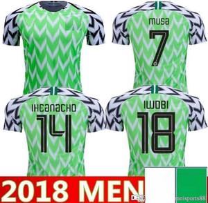 2018 Coupe du monde National Team Hommes Accueil Soccer Jerseys Jerseys Okechukwu Okocha Ahmed 7 Musa 10 Mikel Iheanacho Chemise de football