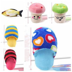 Soft Pet plush toysPet Teething Molar Toys Sound Banana Watermelon Radish Plush Toy Classical Cute Dog Interactive Gift 24 styles LXL1051-1