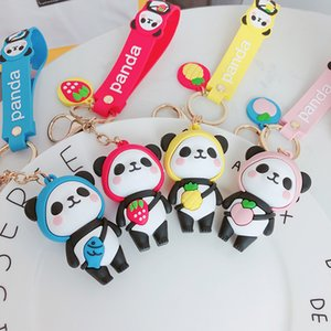 Fashion Doll Animal Panda Keychain Couple Auto Key Chains Key Rings Women Charm Car Bag Pendant Christmas Gift Jewelry