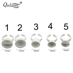 100 pcs Glue Pallet Disposable Glue Holder Ring for Eyelash Extension Tattoo Pigment Make Up Tools for Eyelash Extensions
