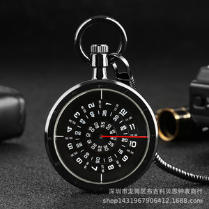 a Variety of Creative Personality Vortex Snake Second Plate Waist Chain Quartz Pocket Watch Gift Table
