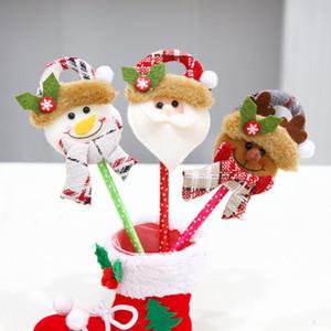 Yeni Noel Kırtasiye Yazma Kalemler Noel Karikatür Bebek Kafası Mavi Tükenmez Kalem Çocuk Yaratıcı Noel Kırtasiye MB Kalemler