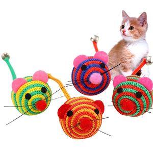 Nylon Mouse Cat Attact Attact Animali Divertente Sound Rat Rat Pet Hunt Catch Morso Forniture giocattolo YQ00940