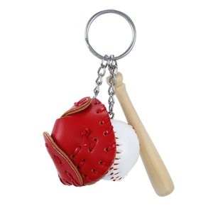 Creative Baseball Keychain Bag Pendant Baseball Fans Supplies Gifts Sports Souvenirs Glove Bat Wooden Stick Keychain Men Sports