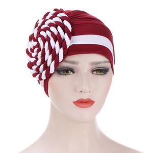 Frauen Hijabs Turban elastischer Stoff Kopf-Kappe Damen-Haar-Zusätze Muslim Schale Mütze