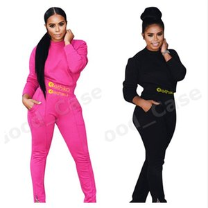 2020 Designers Women Winter Tracksuit Long Sleeve Tops Sweater Hoodies + Legging Pants Two-piece Suit Clothing Solid Sports Outfits F101904