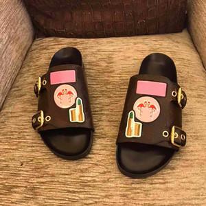 2021 Popolare in vera pelle Style Lady Flamingo Sandalo Sandalo Sandalo piatto Sandalo di alta qualità Lussurys Designer Designer Ladies Slide's Large Size 35-41