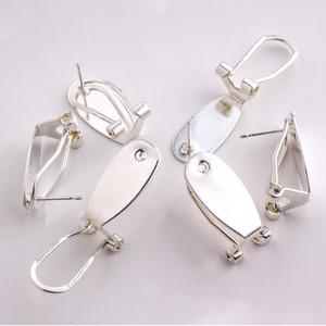 TAIDIAN серебряный серьга для ногтей для родных женщин Beadswork Серьги Ювелирные изделия Найти 50 штук / лот1