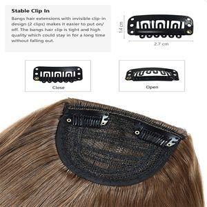 Womens için Saç Bangs Fringe Hairpieces Saç Uzantıları yılında Bangs Saç Uzantıları Düz Neat Bangs Moda Sentetik 1 Adet Klip