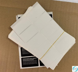 Black White SIM Card Seal Label Sticker For SAMSUNG Galaxy S20 S20plus S20ultra Note 10 20 Phone Package box sealing strip 2.5 4.7cm