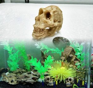 Simulation Statue Landscape Ornament Reptile Cave Artifical Rhino Sheepshead Resin Skull Aquarium Terrarium Decor wmtiSd mywjqq