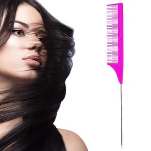 Professionelle Tip-Stielkamm Salon Haarfarbe Hervorhebungen Kunststoff Styling Kamm-Haar-Salon Friseur-Werkzeuge