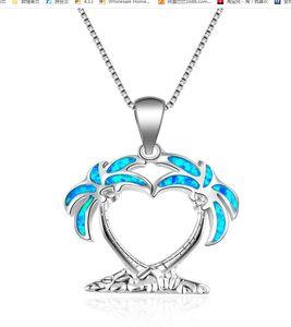 Silver Filled Blue Imitati Opal Sea Turtle Pendant Necklace for Women Female Animal Wedding Ocean Beach Jewelry Gift ps0701