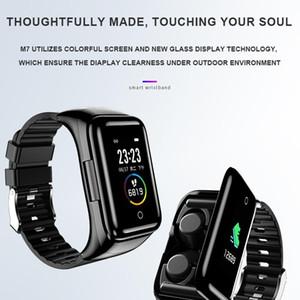 Smart Watch 2 In 1 Multifunctional Stylish Wireless Bluetooth Headset Bracelet Fitness Tracker Wristband Earphone USB Charging