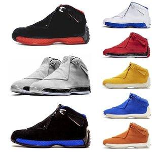 18 erkek basketbol Ayakkabı 18'ler Toro Spor Royal-beyaz Soğuk Gri Beyaz Kırmızı spor spor ayakkabı ayakkabı En Ath NakeskinÜrdünRetros Gym