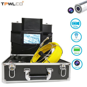 Free 8GB Memory Card Snake Sewer Drain Pipe Cleaner Inspection Video Camera 23MM Lens Waterproof Pipeline Endoscope Equipment