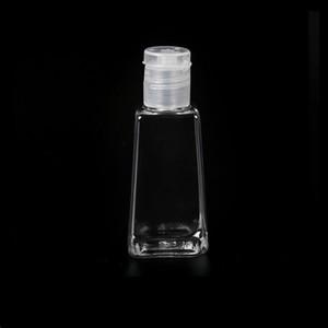 Bouteille en plastique pour animaux de compagnie de 30 ml à mains vides avec bouteille de forme trapézoïdale de capuchon pour le dissolvant de maquillage liquide désinfectant