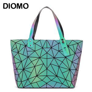 DIOMO Mode Reflektierende Frauen Tragetaschen Geldbörsen und Handtaschen Luxus-Handtaschen-Frauen-Beutel Designer Geometrische Umhängetasche C1009