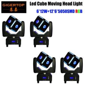Serpiente ojo 6x12w cubo de RGBW llevó moviendo la cabeza efecto del haz de lavado cubix luz la luz principal móvil