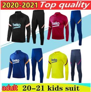 20 21 Kids + Men Soccer Jerseys Training Suit Camiseta de Futbol Ansu fati 2020 Messi Giacca giacca kit kit formazione abito