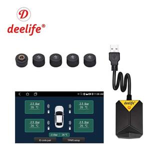 Autoradio e lettore DVD, sistema a lettore multimediale con monitoraggio della pressione dei pneumatici, pneumatici di scorta esterni e sensori interni