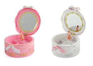 Mädchen musikalische Schmuckkästen Ballerina rotierende Musikbox Grammophon Spielzeug für Kinder Kinder Geburtstagsgeschenke Dekorative Objekte1