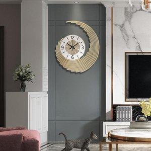 Kinder Metall Gold Kreative Uhr Silent Modern Design Wohnzimmer Wanduhr Silent Orologio da Parete Dekoration BA60WC