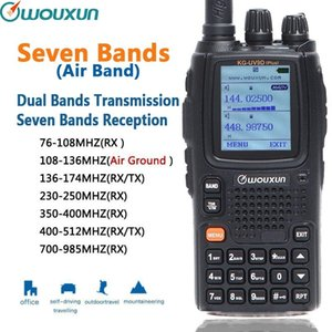 Cheap Walkie Talkie Wouxun KG-UV9D Plus Seven Bands Reception Dual Bands Transmission Air Band Classic Circuit Cross Band Repeater