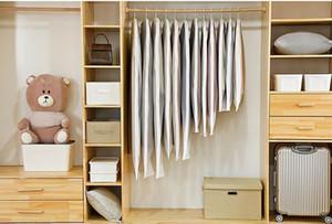 Bolso de almacenamiento de ropa abierta lateral para ropa de vestir de ropa para el hogar Abrigo de la camisa de polvo Protección a prueba de humedad COV JLLLWNM Comb2010