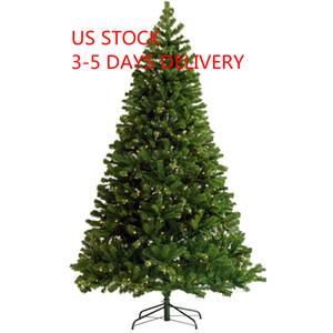 7.5ft مضاءة قبل الولايات المتحدة STOCK 3-5 يوم تسليم شجرة عيد الميلاد شنقا الاصطناعي شجرة عيد الميلاد مع موتر قبل 400 أضواء بقيادة حامل طوي W49819945