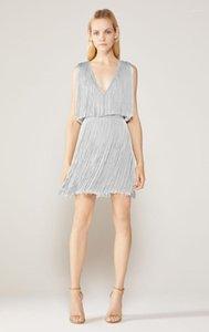 Vero Patly 2020 invierno sexy cuello tassel bronceado plata mujer bodycon vendaje vestido elegante tarde vestido de fiesta vestido Vestido1