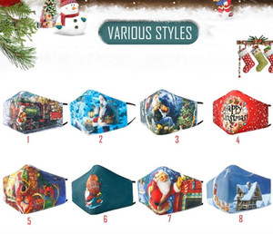 Printed Cotton Mask Warm, Dustproof, Fashionable, Breathable And Washable Winter Christmas Mask 8 Options Available