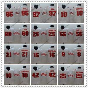 맞춤 샌프란시스코49ers.85.Kite Rice 97 Nick Bosa 10 Jimmy Garoppolo 25 Richard ShermanNFL 전설 축구 유니폼
