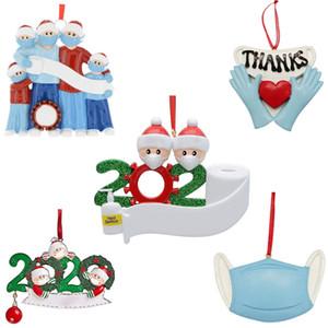29 stili Famiglia pendente di decorazione di Natale 2020 Isolamento Maschera Survivor Palla dell'albero di Natale Scegli Invia libero da DHL
