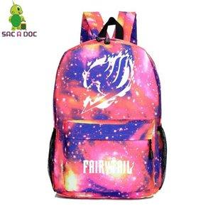 Schulranzen Fashion Fairy Tail Rucksäcke Männer Sac A Dos Zipper Laptop Bookbag Frauen Reisetasche anpassen Logo Backbag Mochila Mujer mwtZGM