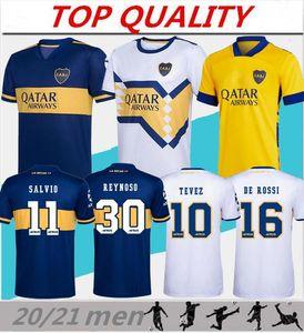 2020 2021 Boca Juniors Fußball Jersey zu Hause weg Männer-Kits 20/21 camisetas de futbol # 16 DE ROSSI # 10 TEVEZ Fußballhemden