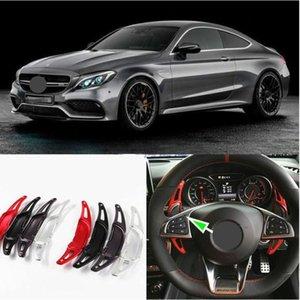 2 шт. Оригинальный алюминиевый сплав автомобиля рулевого колеса сдвиг колеса для Mercedes Benz A45 CLA45 C63 S63 GLA45 AMG Black 2009-2020