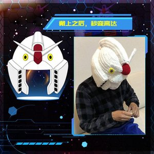 Япония аниме Mobile Suit Gundam Kido Senshi Gandamu Косплей Шерстяной Hat Теплый Смешные Hat Cap Зимняя мода Вязаная