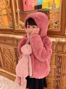 Дети плюс Velvet ветровка двухсторонней одежды Детских одежды мальчики девочки пальто зима 2020 мальчиков девочка Зимней куртки
