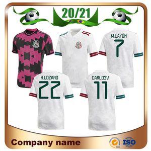 20/21 Messico Soccer Jersey 2020 Home Rosso # 14 Chicharito # 22 H.lozano Camicia da calcio C.VELA A.Guardado Uniform