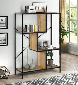 Libreria americana di riserva 4-Tier Rustic Rustic Industrial Bookshelfs Display Libreria Standing Racks Spedizione veloce